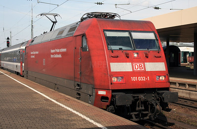DB, 101 032 at Basel Bad on 15th September 2007