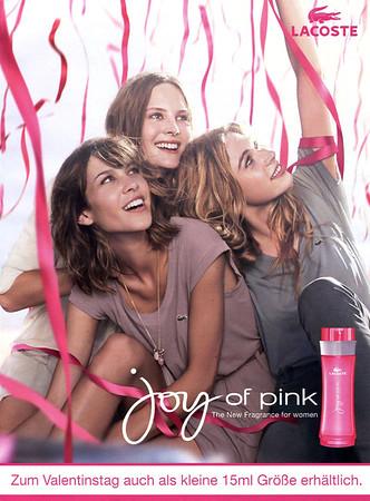 LACOSTE Joy of Pink 2011 Germany 'The new fragrance for women - Zum Valentinstag auch als kleine 15ml Grösse erhältlich'