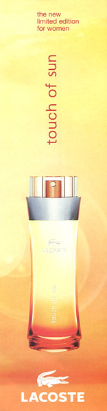 LACOSTE Touch of Sun 2006 Spain half page 'the new limited edition for women''