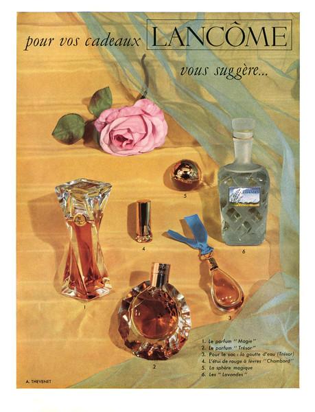 LANCÔME Diverse (Magie- Trésor - Lavandes) 1953 France 'Pour vos cadeaux Lancôme vous suggère'