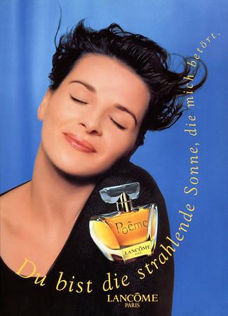 LANCÔME Poême 1996 Germany 'Du bist die strahlende Sonne, die mich betört'