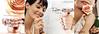 LANCÔME Trésor L'Eau de Toilette  2004 Spain 4 pages (2 recto-verso inserts) 'Siente el frescor de un nuevo amor - Descubre L'Eau de Toilette'