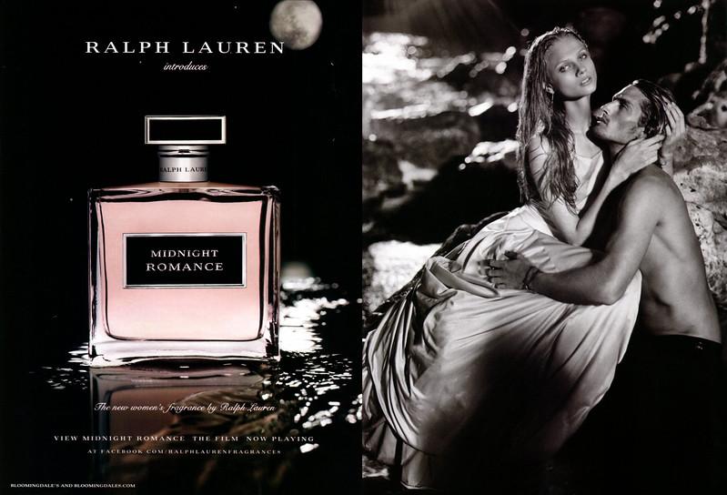 RALPH LAUREN Midnight Romance 2014 US spread 'Ralph Lauren introduces Midnight Romance - The new women's fragrance by Ralph Lauren - View Midnight Romance. The film. Now playing at facebook.com/ralphlaurenfragrances'