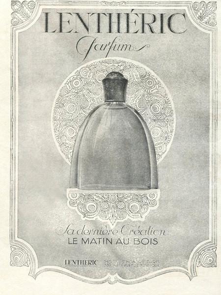 LENTHÉRIC Le Matin au Bois 1925 France (format 15 x 19 cm) 'Sa dernière création'