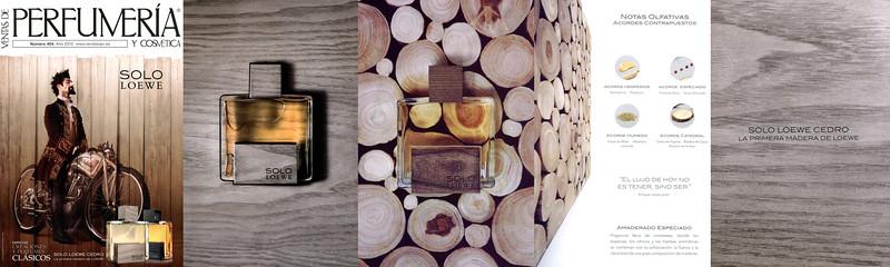 Solo LOEWE Cedro 2015 Spain (5-page foldout) 'La primera madera de Loewe - El lujo de hoy no es tener, sino ser'