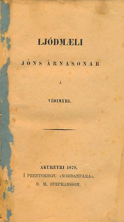 Ljóðmæli Jóns Árnasonar