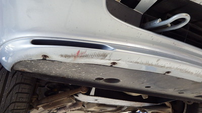 Scuffed front bumper moulding