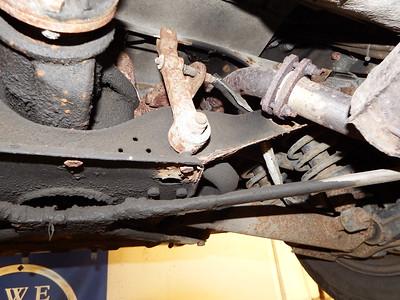 Rear suspension badly rusted