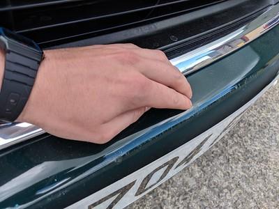 Front bumper scratched/scuffed