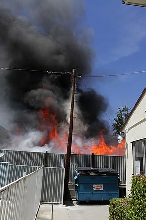 LAFD_ GARAGE FIRE  VALLEY VILLAGE