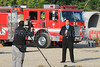 LAFD QUAKE DRILL 88__004<br /> <br /> Local TV Reporter doing a stand-up in front of Engine 4