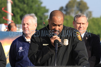 """LAFD QUAKE DRILL 88__031  LAFD CHIEF PEAKS CALLING OCD BY RADIO...REQUESTING THE """"EARTHQUAKE MODE"""" BE IMPLEMENTED  CITYWIDE."""