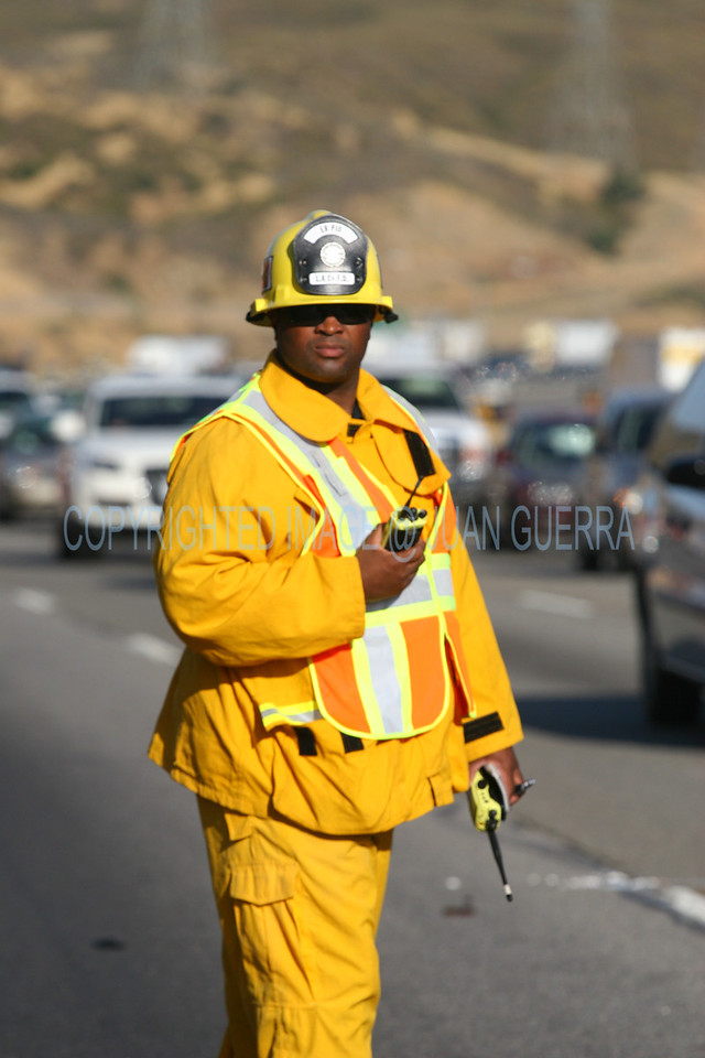 PARADISE IC_27    LACoFD PIO (PUBLIC INFORMATION OFFICER) on the scene.