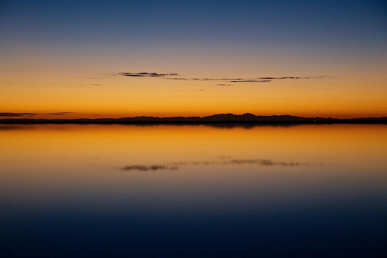 SUNRISE. BONNEVILLE SALT FLATS, UTAH