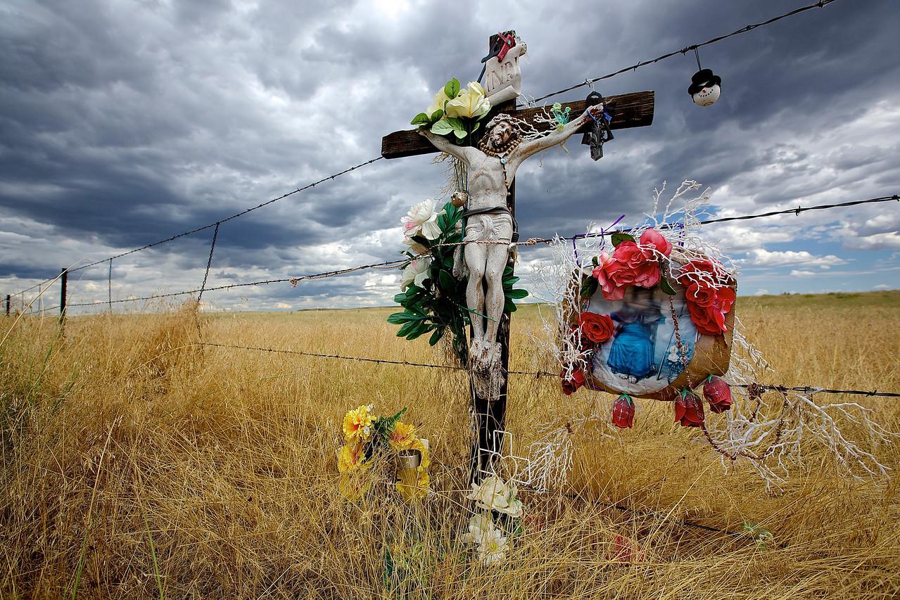 ROADSIDE MEMORIAL. FORT COLLINS, COLORADO