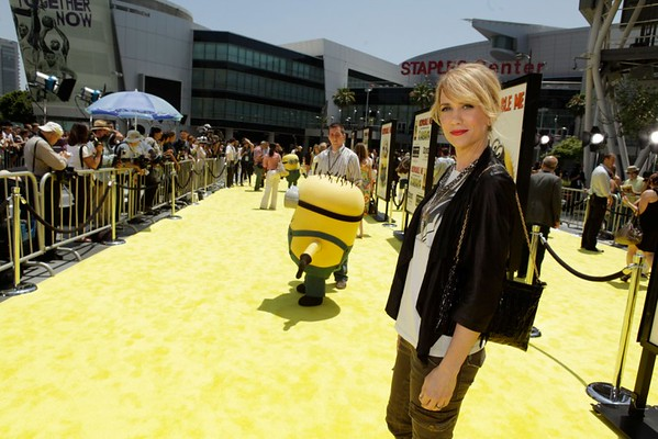 "arrives to the premiere of ""Despicable Me"" during the 2010 Los Angeles Film Festival at Nokia Theatre L.A. Live on June 27, 2010 in Los Angeles, California."