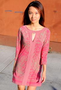beautiful woman model red dress 037.09..