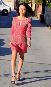beautiful woman model red dress 270.345.345.