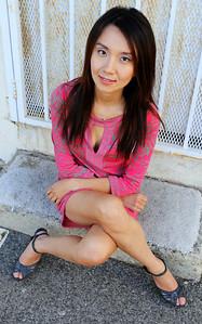 beautiful woman model red dress 198...