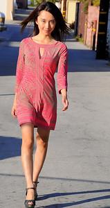 beautiful woman model red dress 267.45.45