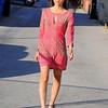 beautiful woman model red dress 270.90.