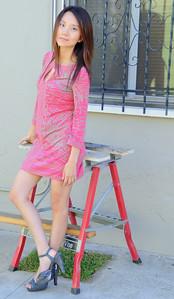 beautiful woman model red dress 103.090...