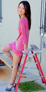 beautiful woman model red dress 131.34.3.4