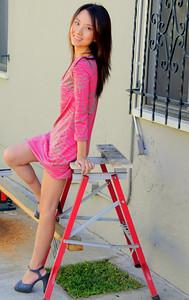 beautiful woman model red dress 118.09...