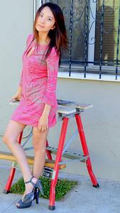 beautiful woman model red dress 102.345.345.