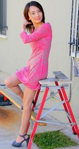 beautiful woman model red dress 142.45.45