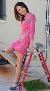 beautiful woman model red dress 140,,