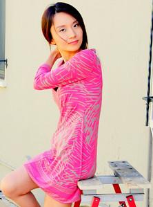 beautiful woman model red dress 143.45