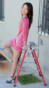 beautiful woman model red dress 118..