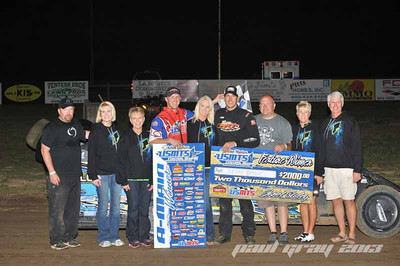 Jeremy Payne takes USMTS Modified win at L A Raceway!