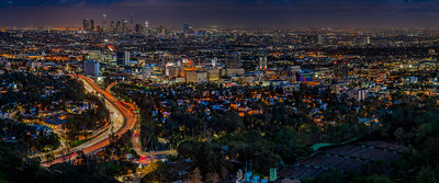 LA Skyline Night from Hollywood Bowl OL
