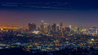 LA Skyline from W-Tree Trail