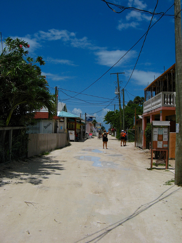 There's only one main street in Caye Caulker.