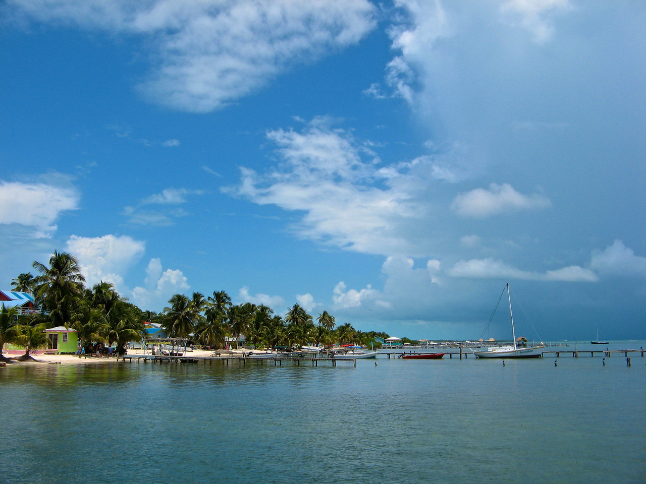 Caye Caulker is just a short 20 minute boat ride away.