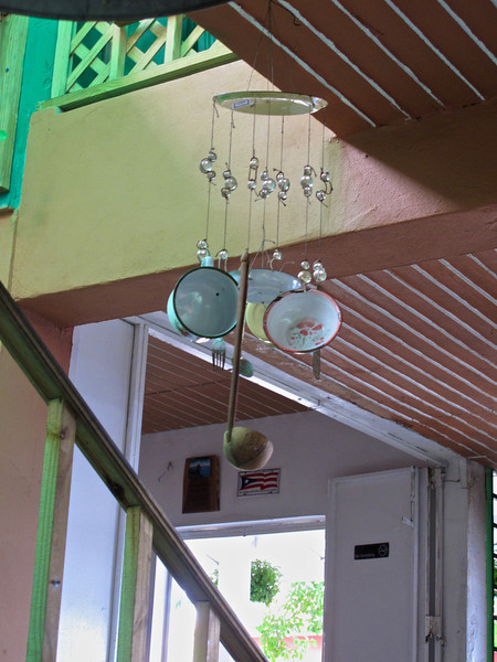 ..or a wind chime made out of pots, pans and ladles?