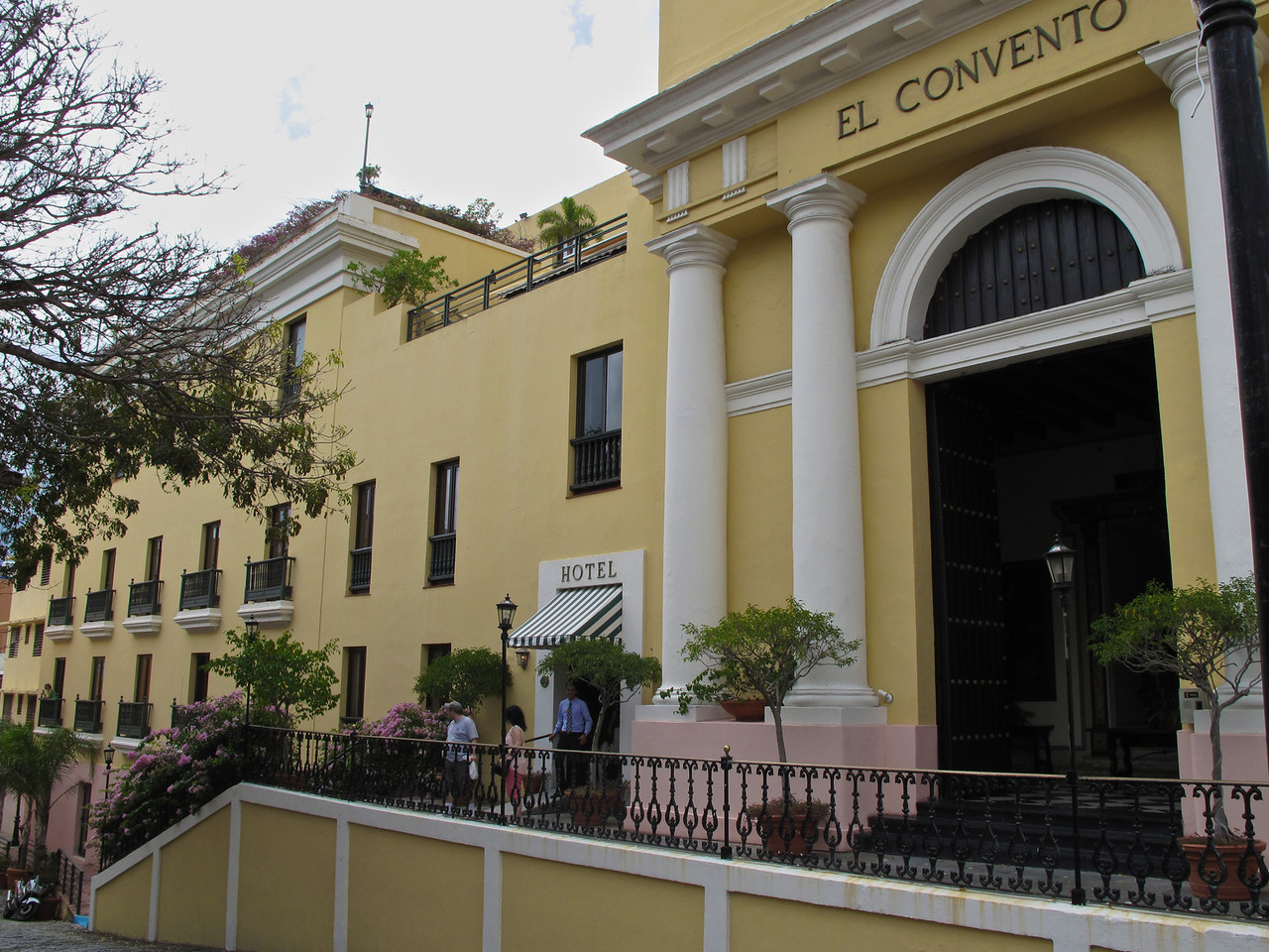 Hotel El Convento has its origins as a Carmelite convent 356 years ago.  In <br /> 1646 Construction began on the Carmelite convent, through a petition by King Phillip IV of Spain.  In <br /> 1651, the convent was inaugurated as the Monastery of Our Lady Carmen of San José -- and was situated across the street from San Juan Cathedral, the Western Hemisphere's oldest cathedral.