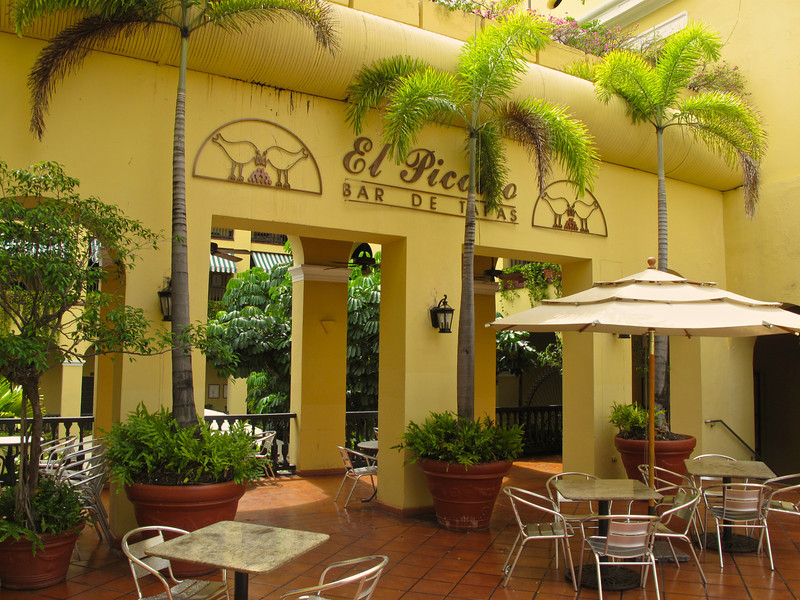 El Picoteo, a tapas bar and restaurant connected to the Hotel Convento has great tapas and perfect mojitos.
