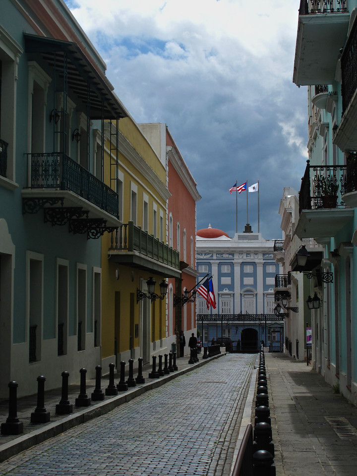 What is now known as Old San Juan occupies the western end of a rocky islet at the mouth of San Juan Bay.