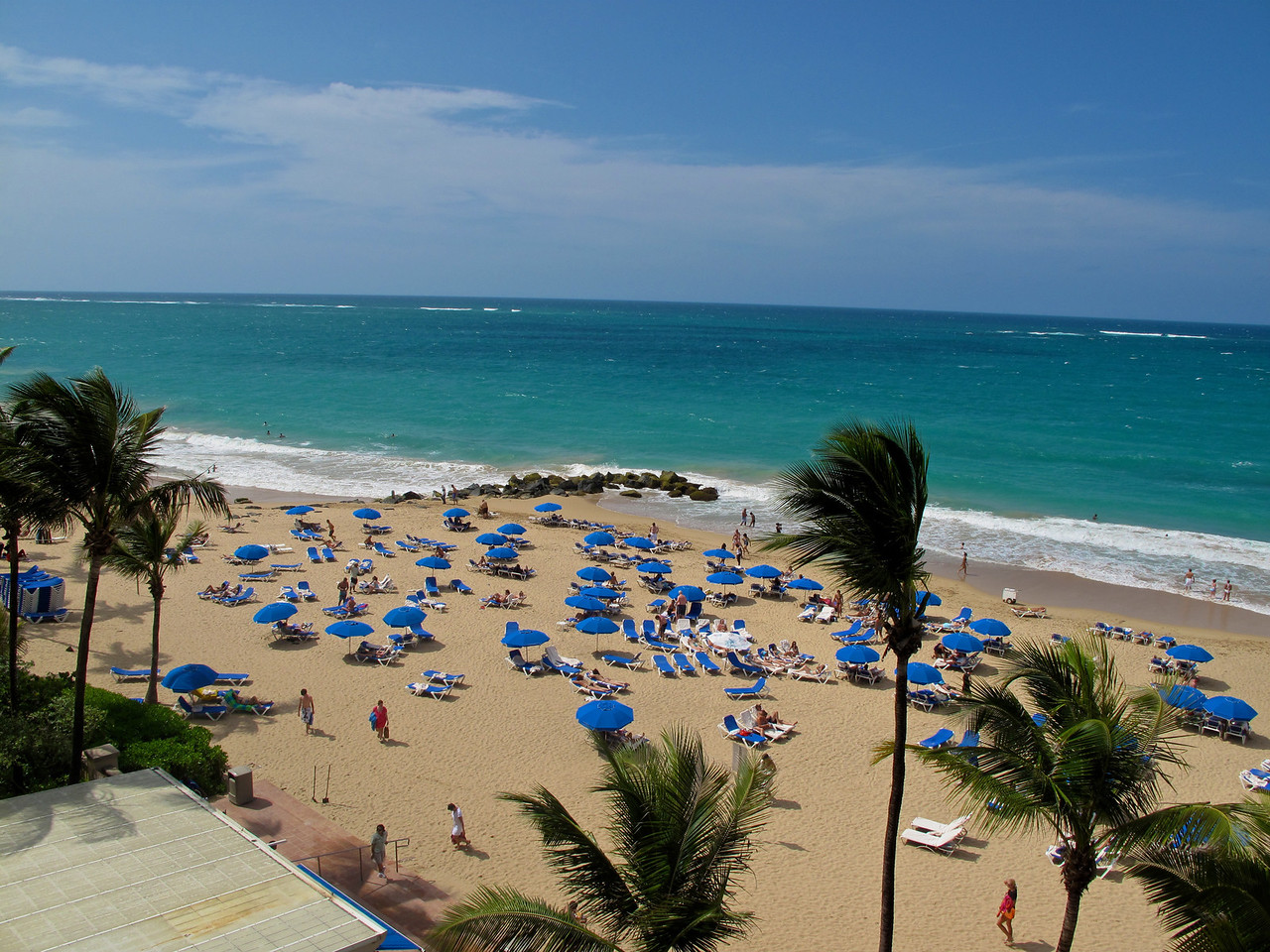 Condado Beach lies to the dast of Old San Juan and is a wealthy tourist-oriented neighborhood which occupies land that used to be owned by entrepreneur Pablo Ubarri Capetillo, a Spanish railroad developer and Count of San José de Santurce under the Spanish colonial period.