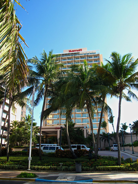 The Marriott San Juan is located with many other hotels on Condado Bech.