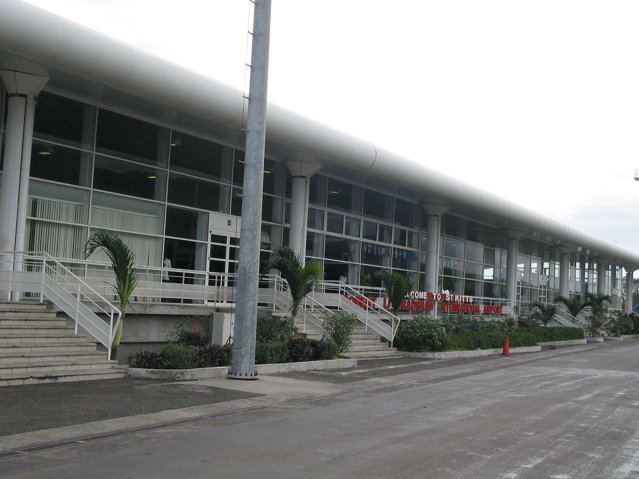 St Kitts airport.