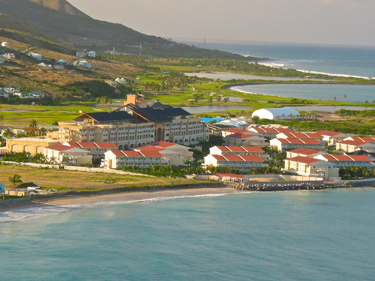 St Kitts Marriott and Casino sits directly on the coast.