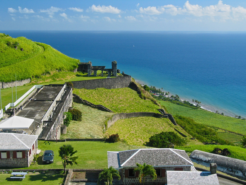 In its heyday, the fort was known as 'The Gibraltar of the West Indies', in reference to its imposing height and seeming invulnerability. In 1782, the French, under Admiral Comte François Joseph Paul de Grasse laid siege to the fort. During the siege, the adjacent island of Nevis surrendered, and guns from Fort Charles and other small forts there were brought to St. Kitts for use against Brimstone Hill.