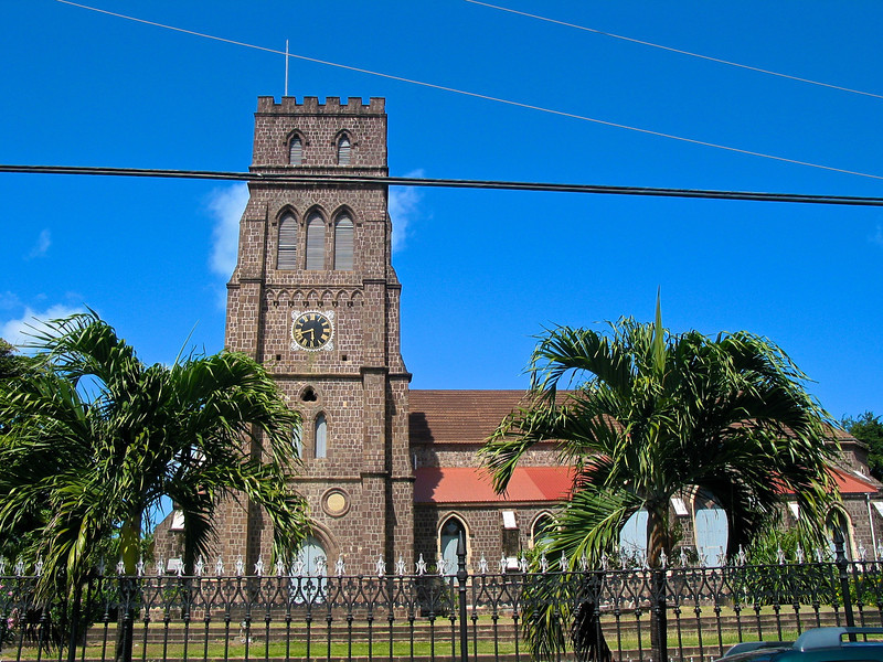 St. George's Anglican Church is an Anglican church in Basseterre, Saint Kitts and Nevis.<br /> <br /> In 1670 French Jesuits built a church dedicated to Our Lady; in 1706, however, Notre Dame was burned to the ground by English soldiers billeted there. <br /> <br /> It was re-built and officially renamed in 1710 St. George's. It was damaged again in the fire of 1763, but once again restored. The earthquake of 1842, followed by the hurricane of 1843, reduced it to so ruinous a condition that an entirely new building was planned.<br /> <br /> In 1856 the present Church was begun, and it was consecrated on 25 March 1859. Seven years afterwards, it was gutted in the Great Fire of 1867; and was re-roofed, and restored in 1869.<br /> <br /> In a series of hurricanes since 1989, the church was again damaged, but restoration work has since been undertaken on the building.