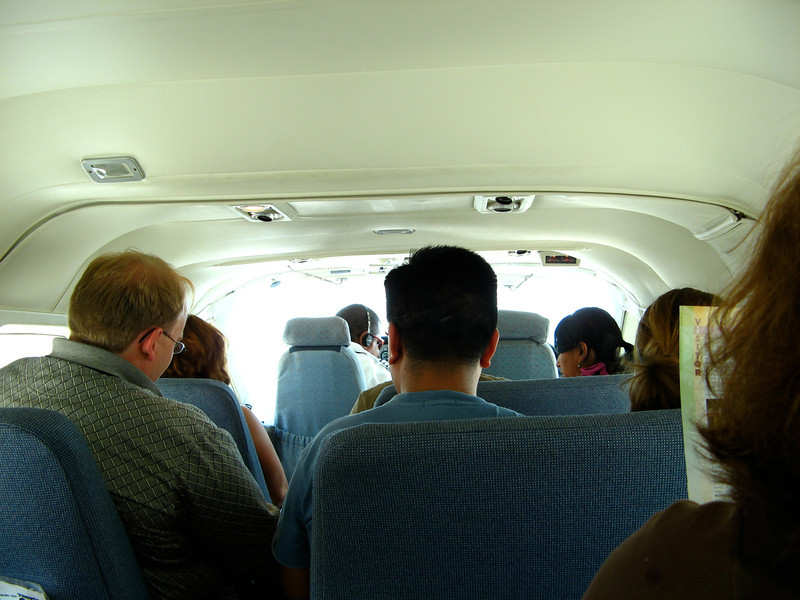 The flight to San Pedro on Ambergris Caye takes about 15 minutes.