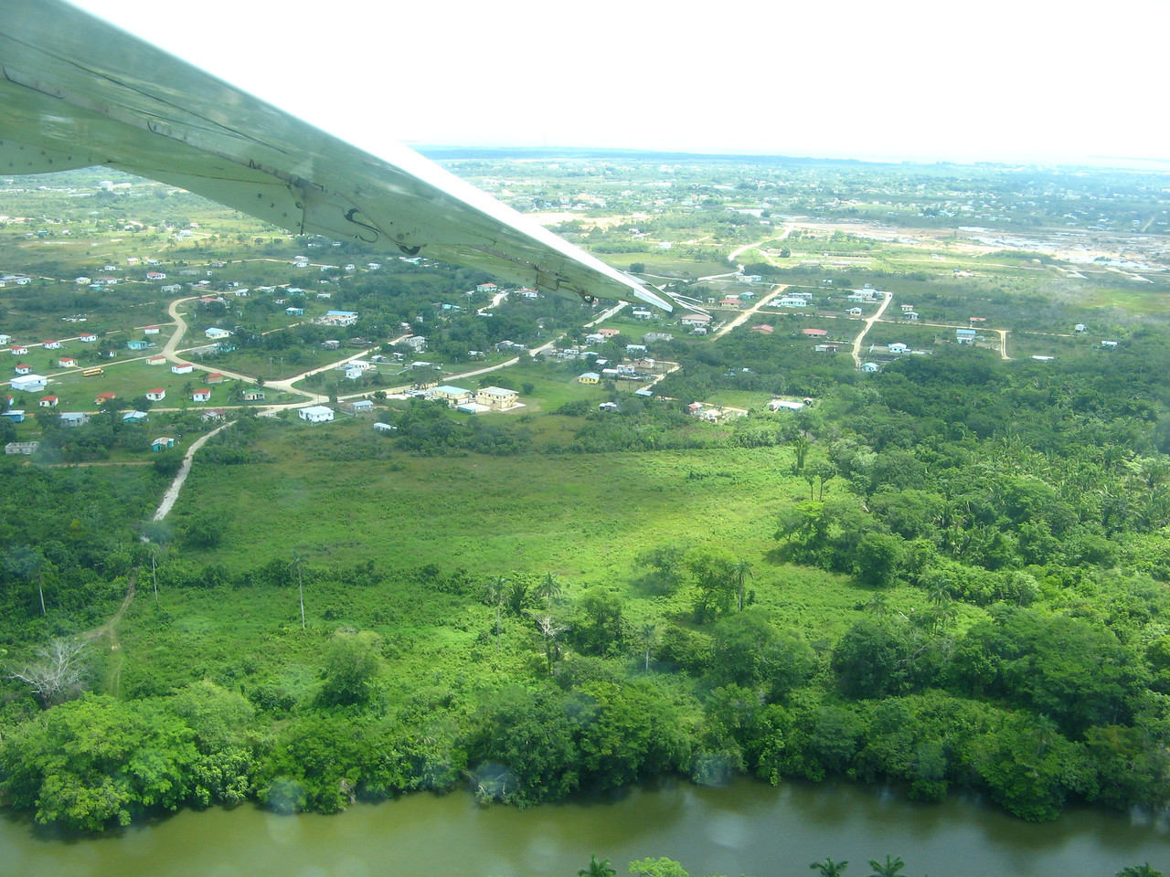 A view as we're leaving the Belize City airport.
